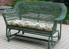 Outdoor Glider Loveseat Mackinac Out Wicker Settee Double Glider Nc369g2 Jaetees