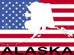 Alaska Usa Map by Map Of Alaska On American Flag Illustration Stock Photo Picture