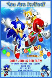 sonic invitation sonic hedgehog birthday invitation