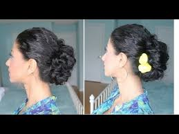 hairstyles for curly and messy hair curly hair messy bun youtube
