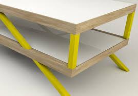 yellow wood coffee table kitara coffee table by max ptk design milk