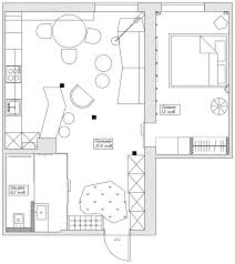 Art Studio Floor Plan 4 Small Studio Apartments Decorated In 4 Different Styles