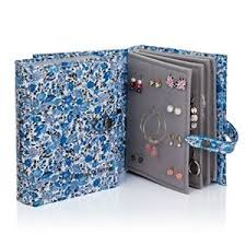 book of earrings the book of earrings blue floral earring book holds 48