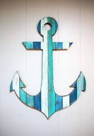 Hand Painted Love Anchors The - beach wall hanging decor large canvas nautical coastal beach surf