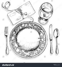 Setting A Table by Image Table Setting Plate Fork Spoon Stock Vector 314730596