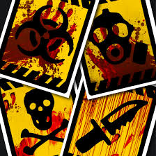 zombie party caution signs walking dead party decor blood