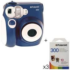 polaroid instant 300 polaroid pic 300 instant analog blue w 3 packs of
