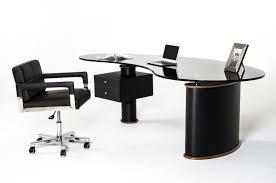 Office Desk Walnut Robertson Modern Black And Walnut Office Desk
