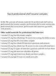 cook resume sample doc top 8 professional chef samples 1 in this
