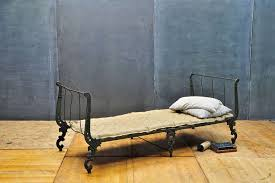 Day Bed Sofa by Victorian Cast Iron Ornate Campaign Daybed Sofa Chaise At 1stdibs