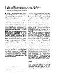 predictors of thromboembolism in atrial fibrillation ii