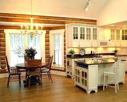 kitchens ideas pictures cabin kitchen ideas log home kitchen with butcher block style island