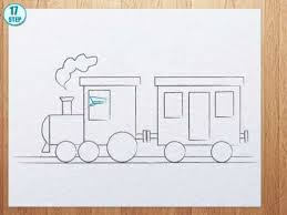 how to draw a train youtube