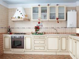 modern kitchen hi tech design with mosaic tile wall backsplash
