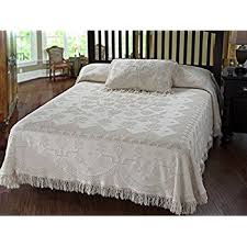 Colonial Coverlets Amazon Com Maine Heritage Weavers Colonial Rose Bedspread Full