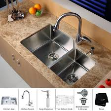 kitchen sink faucet combo faucet com khu123 32 kpf2120 sd20 in stainless steel by kraus