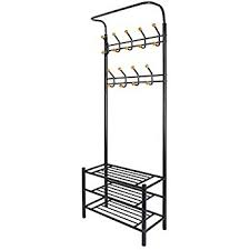 hapilife metal multi purpose clothes coat stand shoes rack