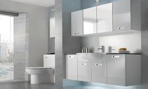 White Bathroom Furniture Fitted Bathroom Furniture White Gloss With Regard To Property