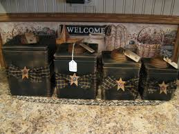 made these over https www facebook com pages primitive country love this wooden canister set