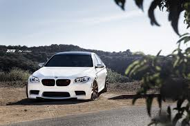 bmw m5 slammed alpine white bmw f10 m5 on zito wheels is gorgeous
