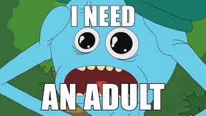 I Need An Adult Meme - rick and morty meme need an adult on bingememe