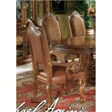 aico dining room 53444 24 aico furniture monte carlo pecan leather arm chair