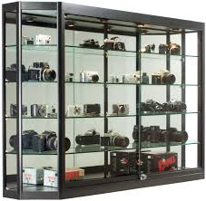 lockable glass display cabinet showcase storage glass showcase collectible display cabinet small wall