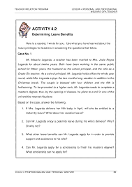 personal quality essay module 4 professionalism and personal welfare