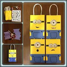 minion gift bags minion printable template minion bags use for template gift
