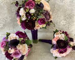 wedding flowers silk wedding bouquets etsy