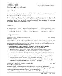 Operations Manager Resume Template Manufacturing Manager Resume Samples U0026 Examples