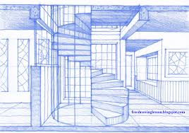 how to draw a spiral staircase learn to draw