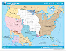 Blank United States Map Quiz by Territorial Acquisitions Of The United States Since 1783 Map