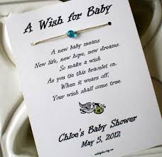 a wish for baby wish bracelet party favor custom made for