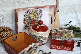 decoupage home decor buy kitchen set berries terracotta decoupage on livemaster online shop