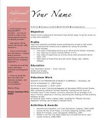 resumes for high students in contests high student resume template exle summer