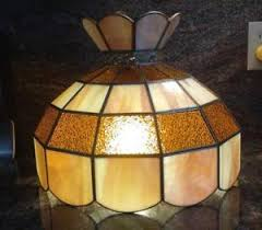 Glass Kitchen Light Fixtures Vintage Stained Glass Hanging L