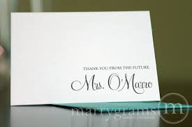 bridal shower thank you notes bridal shower thank you cards from the future mrs custom