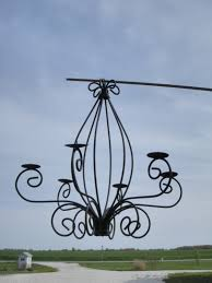 Outdoor Votive Candle Chandelier by Wrought Iron Celian Chandelier Outdoors Candles