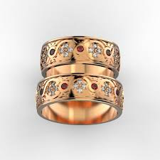 wedding bands with ornament 3d print model cgtrader