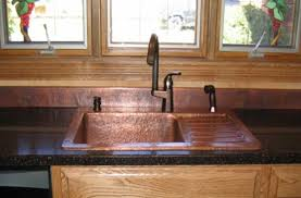 Copper Kitchen Sink Petit Lucca Antique Copper Kitchen Sink View - Copper sink kitchen