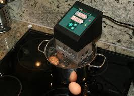 thermoplongeur cuisine oeuf cuit à température constante de 64 5 c avec un thermoplongeur