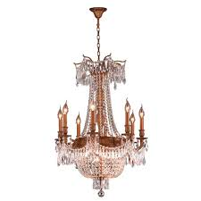 Crystal And Gold Chandelier Worldwide Lighting Winchester Collection 12 Light French Gold And