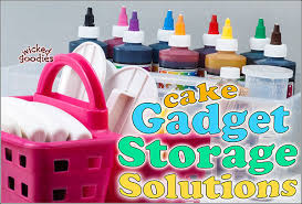 cake decorating supply storage