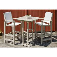Patio Bar Furniture Sets - trex outdoor furniture surf city textured silver 3 piece patio bar