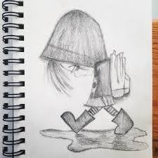 drawn rain pencil sketch pencil and in color drawn rain pencil
