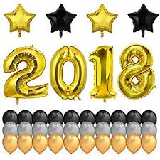cheap graduation decorations gold 2018 balloons with pom poms new years