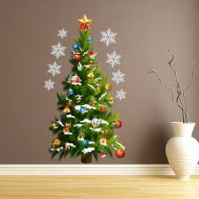 christmas tree wall sticker home remodeling ideas vintage lovely