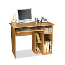 Small Wood Computer Desk Bestar Basic Small Wood Computer Desk In Cappuccino Cherry 90400