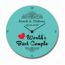personalized anniversary clocks custom worlds best anniversary canvas wall clock giftsmate